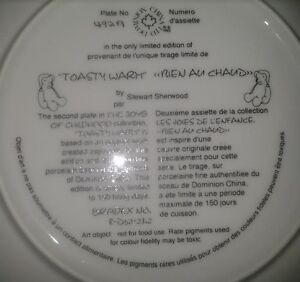 """Collector Plate: """"Toasty Warm"""" Peterborough Peterborough Area image 2"""