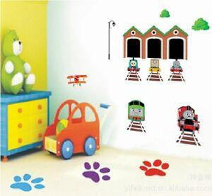 diy thomas the tank train wall sticker decor decals removable art kid nursery ebay. Black Bedroom Furniture Sets. Home Design Ideas