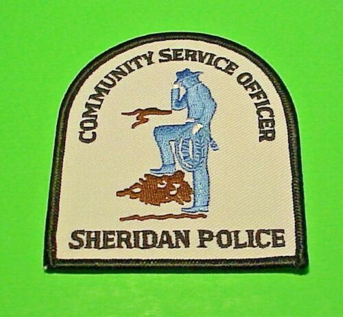 """SHERIDAN WYOMING COMMUNITY SERVICE OFFICER 3 1/2"""" POLICE PATCH  FREE SHIPPING!!!"""