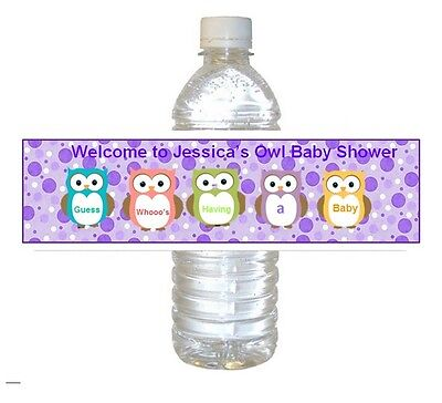 5  Baby Shower Party Favors ~ Water Bottle labels Buy 3 get 1 free (bp4)](Buy Baby Shower Favors)