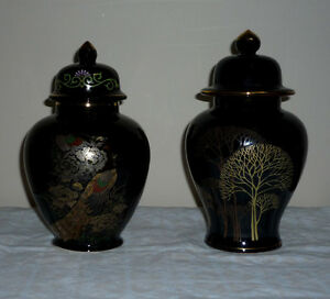 2 Japanese Ginger or Tea Jars : NEW : Never Used : As shown