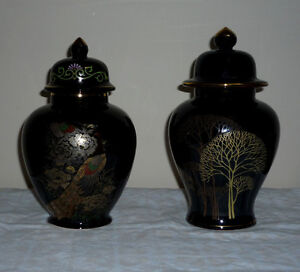 2 Japanese Ginger or Tea Jars : NEW : Never Used : As shown Cambridge Kitchener Area image 1