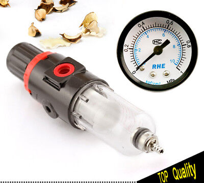 14 Bsp Air Filter Pressure Regulator Compressor Moisture Trap With Gauge
