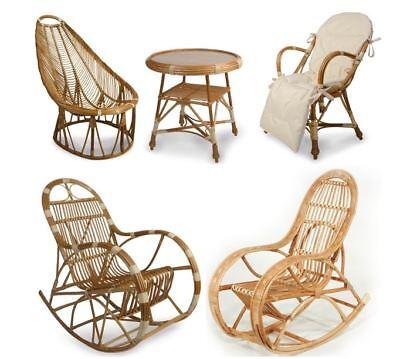 Möbel Schaukelstuhl (Korbstuhl WEIDENMÖBEL Schaukelstuhl, Korbsessel oder Korbtisch, Möbel aus Weide)