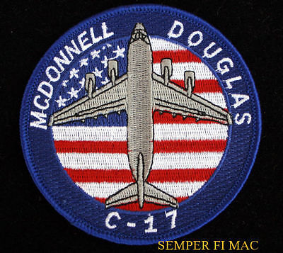 C-17 GLOBEMASTER PATCH US AIR FORCE AFB USA FLAG LONG BEACH MCDONNELL DOUGLAS
