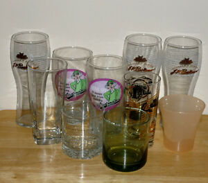 variety of Glasses :10 in total : Plain and Novelty