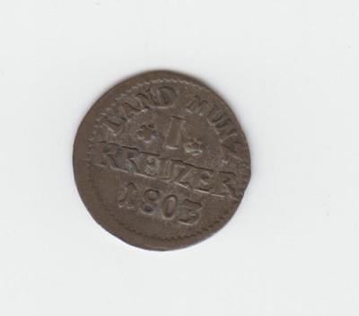 13)  Hessen - Darmstadt  1 Kreuzer 1803