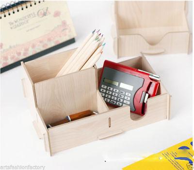 DIY Office Desk Organizer Pen Pencil Creative Wooden Desk Organizer Pen holder - Diy Desk Organizer