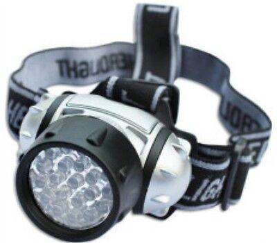 19 LED Adjustable Pivoting Flashlight Helmet Headlamp Outdoor Camping Light NEW