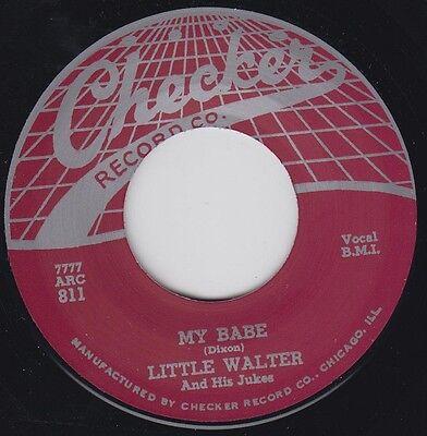 LITTLE WALTER My Babe CHECKER Re.45 7 Stone-Killer 1955 R&B Classic 2 sider HEAR