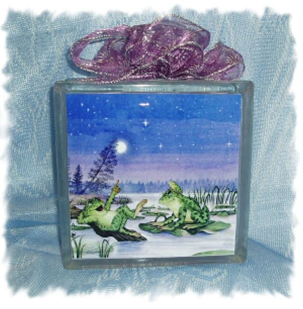 Wish Upon a Star Glass Block Light