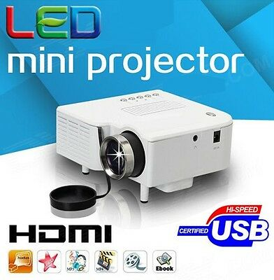 VIDEOPROIETTORE MINI HD 1080P LED TV PROIETTORE HDMI USB VGA SD AV 32-42-48-50