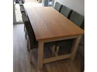 REDUCED BRAND NEW LOVELY QUALITY DINING TABLE