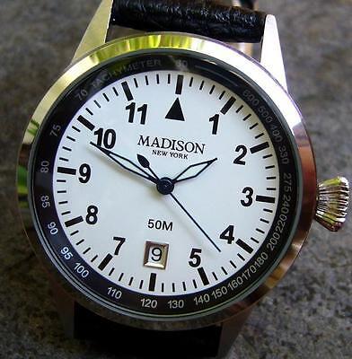 Große Uhr - Madison New York - Motorsport - mit Quarzwerk - NEU in Geschenketui