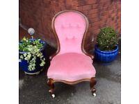 Victorian Mahogany Drawing Room/ Dressing Chair