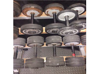 Technogym Dumbbells with dumbbell rack (4,14,20,24,26kg pairs ) £180 or nearest offer