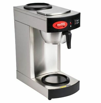 12 Cup Pourover Stainless Commercial Coffee Brewer Maker With 2 Warmers- 120v