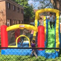$75/day Bouncy castle with slide for rent! Birthdays BBQ fun day