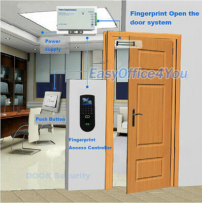 Zkteco Fingerprint And Rfid Card Door Access Control System Magnetic Lockpsu