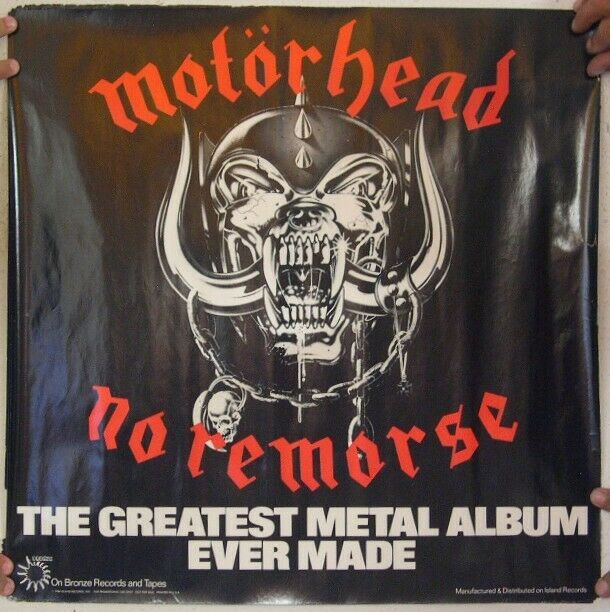 Motorhead Logo 24x36 inch rolled wall poster