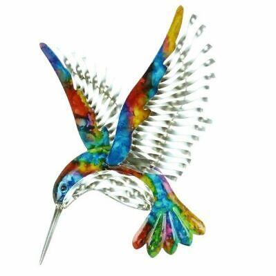 Hummingbird Outdoor Wall Art (Colourful Wall Art Metal Hummingbird - Stunning Bird Plaque - Indoor /)