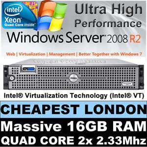 DELL-POWEREDGE-2950-QUAD-CORE-2x-2-33GHZ-8-CORE-E5345-16GB-RAM-146GB-RAID-Perc5i