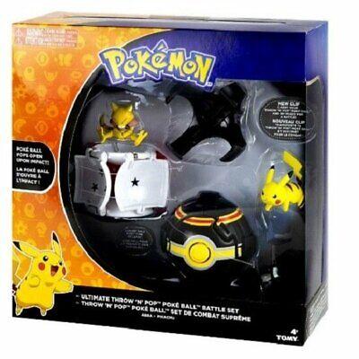 Pokemon Ultimate Throw N Pop Battle Set Abra Pikachu Poke Ball Gift Toy Kids NEW