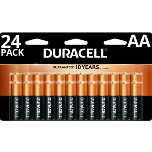 Duracell MN1500B24 Coppertop Alkaline Batteries, AA, 24/Box