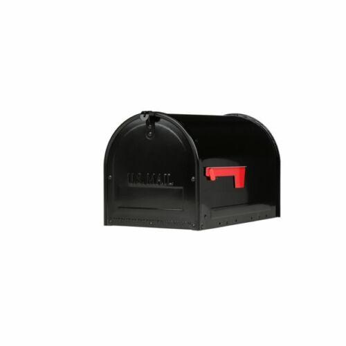 Large Locking Mailbox Galvanized Steel Post Mount Prevent Mail Theft Black, NEW