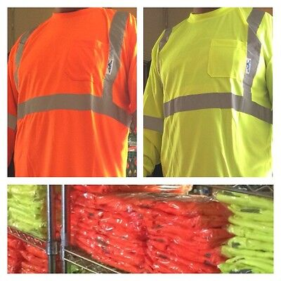 Wholesale Lot Of 12 Safety Reflective Long Sleeve Shirts From Medium - 4x