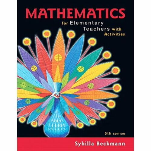 mathematics for elementary teachers with activities PDF VERSION