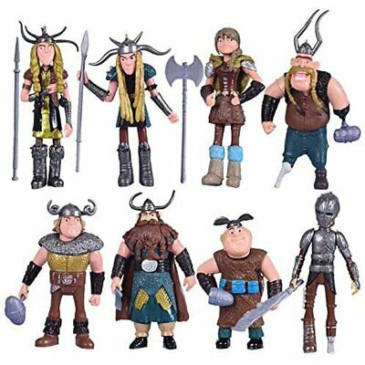 How to Train Your Dragon 8 pcs Figures Hiccup Astrid Stoick & Ruffnut
