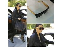 CELINE ZZ BLACK & GOLD CHAIN SUNGLASSES DESIGNER KIM CELEB - FREE TRACKED DELIVERY!