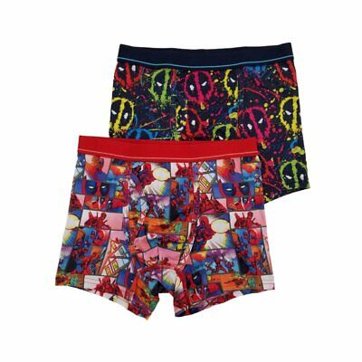 Marvel Comics Deadpool,2-Pack Boxer Brief New