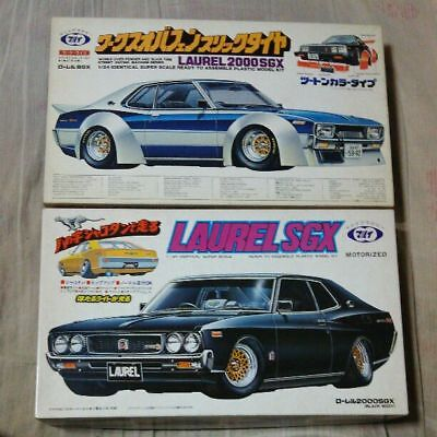 Vintage Rare Marui 1/24 Laurel SGX 2 units set Old car Butaketsu works