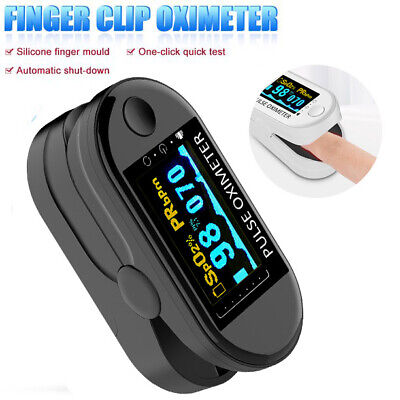 Finger Pulse Spo2 Oximeter Blood Oxygen Saturation Heart Rate O2 Patient Monitor