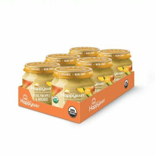 Happy Baby Organics  Baby Food, Stage 2, 6+ Months, 4 oz 16 jars assorted