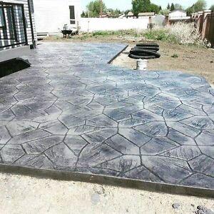 Broom / Exposed / Stamped Concrete - Artistic Concrete Designs