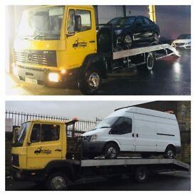Mercedes recovery breakdown truck 817 814 lk900 4.2 td 6 speed aluminium body new tyres husky winch