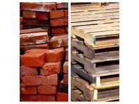 Bricks, pavers and pallets