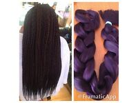 BOX BRAIDS/ FAUX LOCS /TWIST/ LA WEAVE HAIR EXTENSIONS/AFRO CARIBBEAN/EUROPEAN HAIR /BRAZILIAN HAIR
