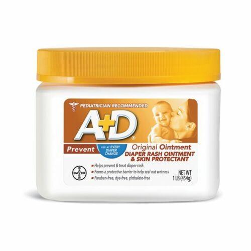 A+D Original Diaper Rash Ointment, Skin Protectant, 16 oz
