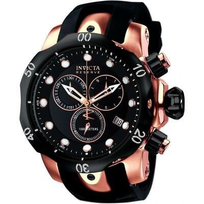 Invicta Venom 5733 Men's Round Analog Chonograph Date Black Polyurethane Watch