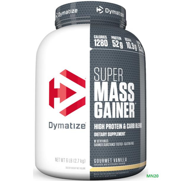 Dymatize Super Mass Gainer Protein Powder, Gourmet Vanilla,
