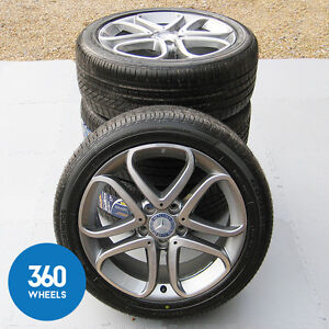Genuine mercedes benz 17 a b class 5 twin spoke alloy for Mercedes benz tyres