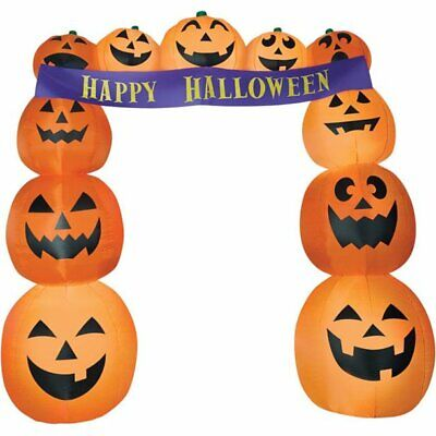 9' Ft. Halloween Pumpkin Archway Lighted Airblown Inflatable Yard Decor
