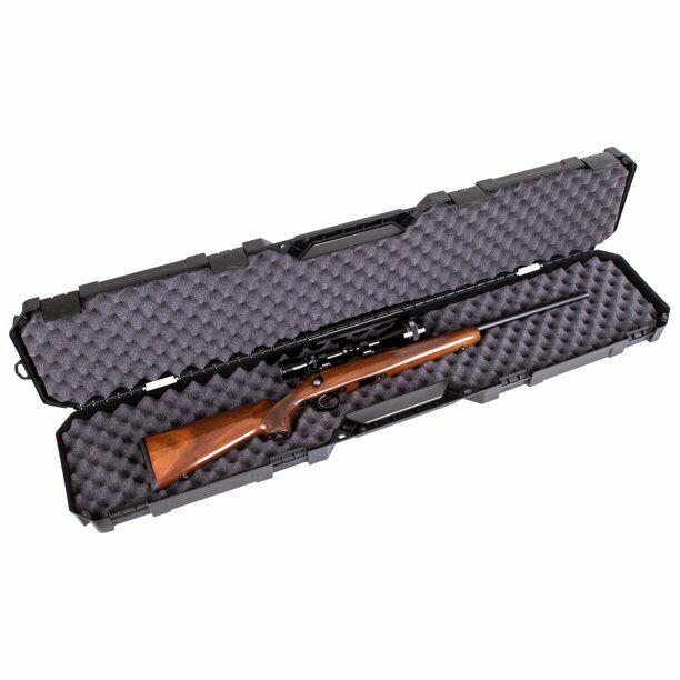 Gun Carrying Case Rifle Shotgun Padded Plastic Hard Sided Hu