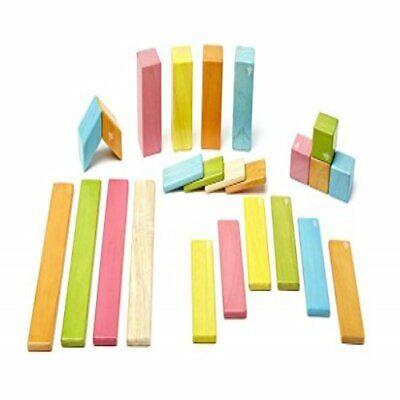 24 Piece Tegu Magnetic Wooden Block Set, Blossom Classics