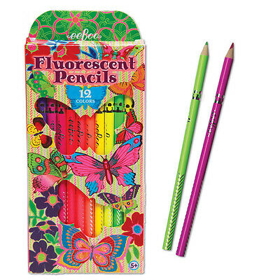 EeBoo Fluorescent Butterfly Colored Pencil Set