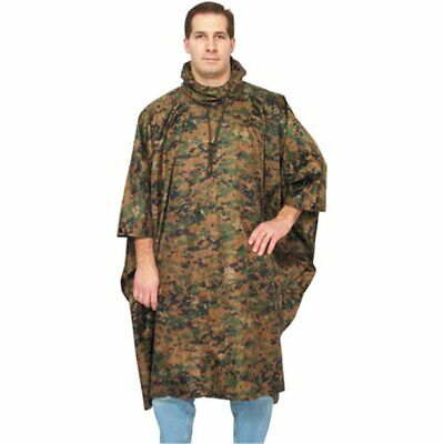 Fox Outdoor Military US Marine Marpat Style Digital Woodland Ripstop Poncho